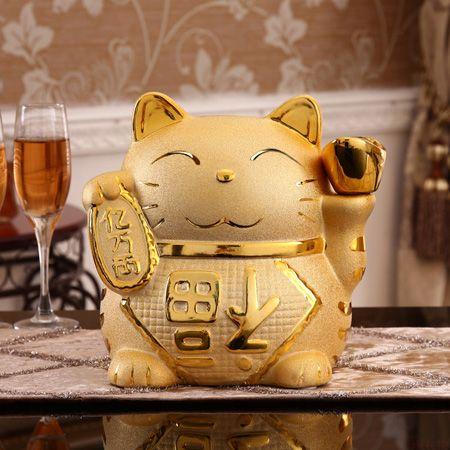 可爱陶瓷招财猫存钱罐